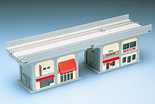 Nゲージ関連用品 複線高架橋脚ガード下建物セットB 4104