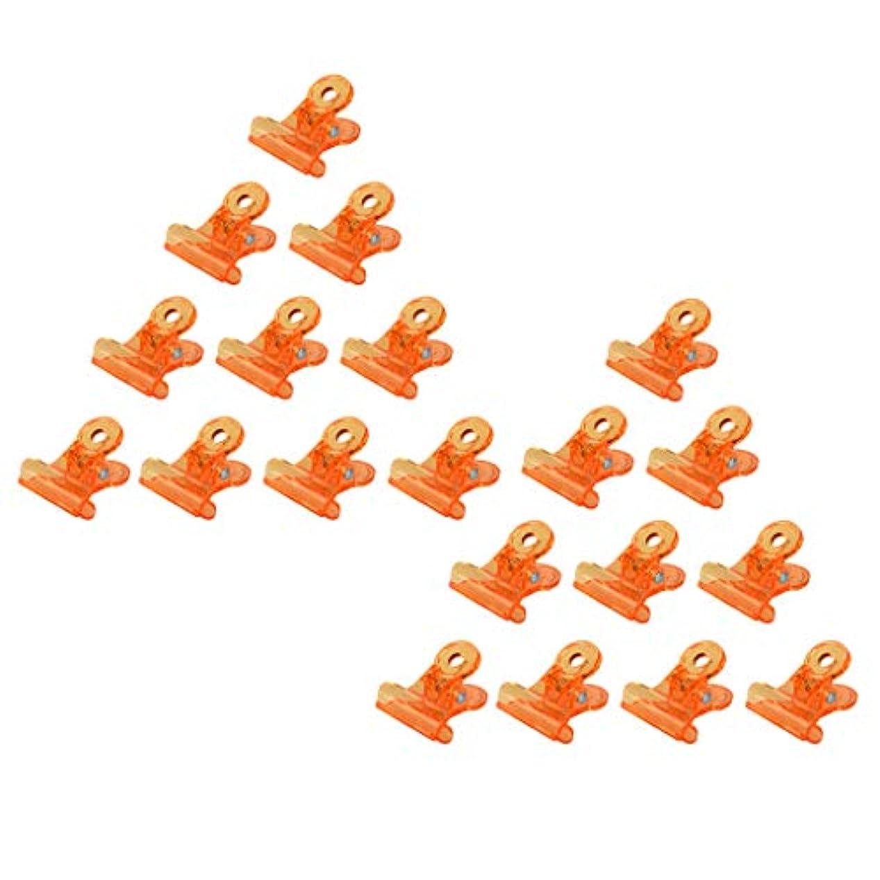 Toygogo 20xプレミアムオレンジソークオフジェルネイルアートラップクリップマニキュアリムーバークリップ
