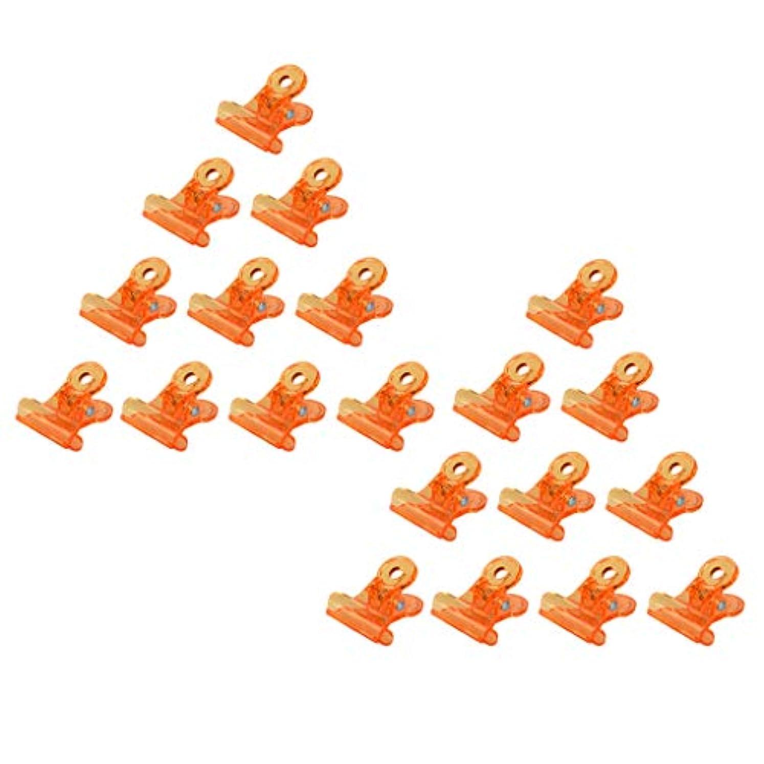 飾り羽ミリメートル出会いToygogo 20xプレミアムオレンジソークオフジェルネイルアートラップクリップマニキュアリムーバークリップ