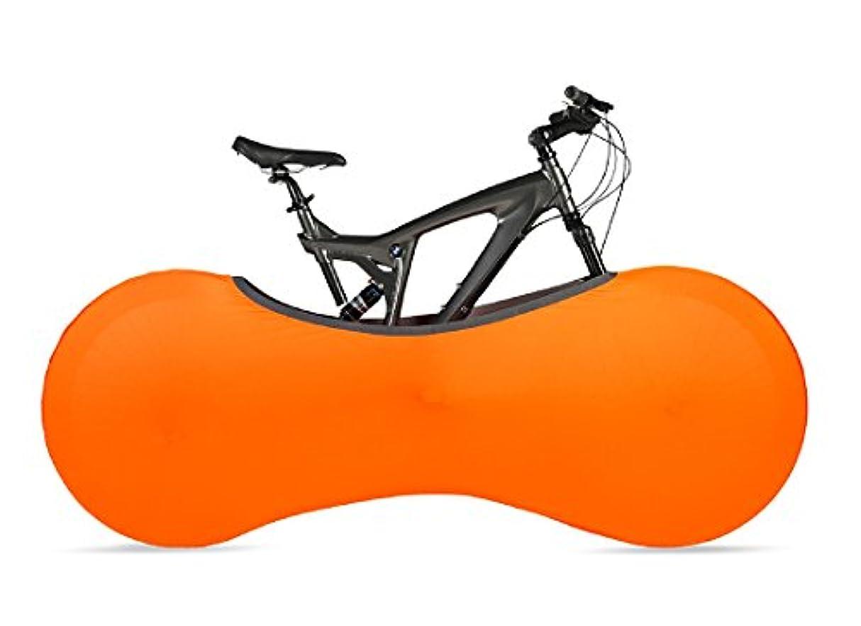 キャンペーンタンザニアスリルVELOSOCK オレンジ エントランス、オフィス、店舗用 自転車屋内収納カバー 大人用 フリーサイズ DIRT-FREE - 大人用自転車に99%フィットサイズ:1.6 - 2 m の長さの自転車に適しています