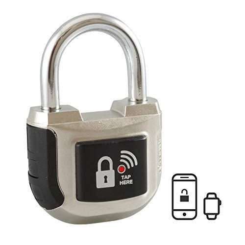 eGeeTouchスマートパッドロック第2世代 インドアでも使える南京錠 スマホやスマートウォッチで鍵や暗証番号...