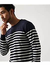 (アズールバイマウジー) AZUL by moussy Tシャツ 長袖 スター ボーダー長袖 クルーネック PO メンズ 251BAD70-052G