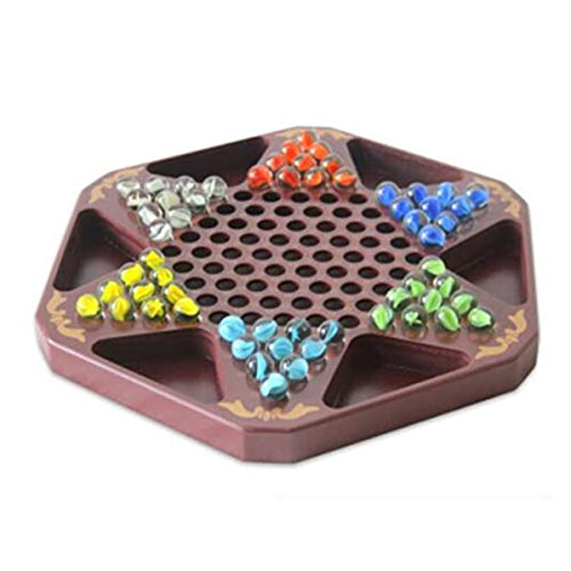 SHENGSHIHUIZHONG 中国語チェッカー、チェッカー、ハルマ、ラージチェッカーツーインワンチェッカーフライングボードIntellect Power Brown Board 雰囲気 ( Edition : B , Size : 28*32cm )