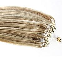 FidgetGear 100/200年代琥珀色二重描画100%Remyループマイクロリング人間の髪の毛の拡張子 #27/613