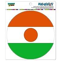 ニジェール国立国旗 - サークル MAG-格好いい'S(TM)カー/冷蔵庫マグネット