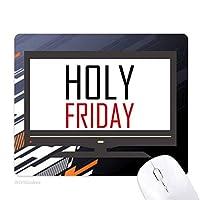 聖金曜日カナダ祝福祭休日祭りを祝う祝賀の言葉 ノンスリップラバーマウスパッドはコンピュータゲームのオフィス