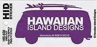 ハワイアン雑貨/ハワイ雑貨 ハワイアン ワーゲンバス ステッカー (H-パープル) 【お土産】