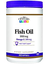 21st Century Health Care, Fish Oil, Omega-3, 1000 mg, 300 Softgels