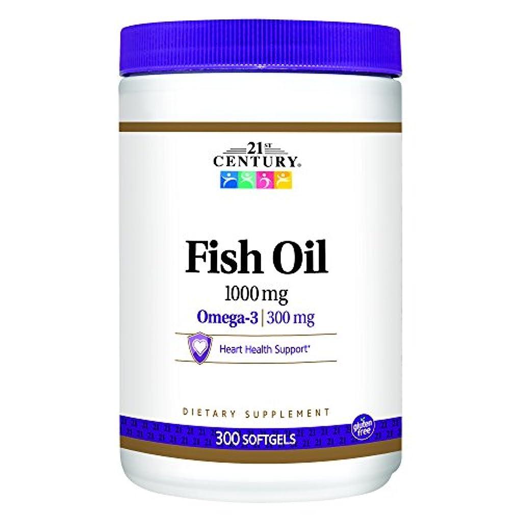 反乱蒸写真を撮る21st Century Health Care, Fish Oil, Omega-3, 1000 mg, 300 Softgels