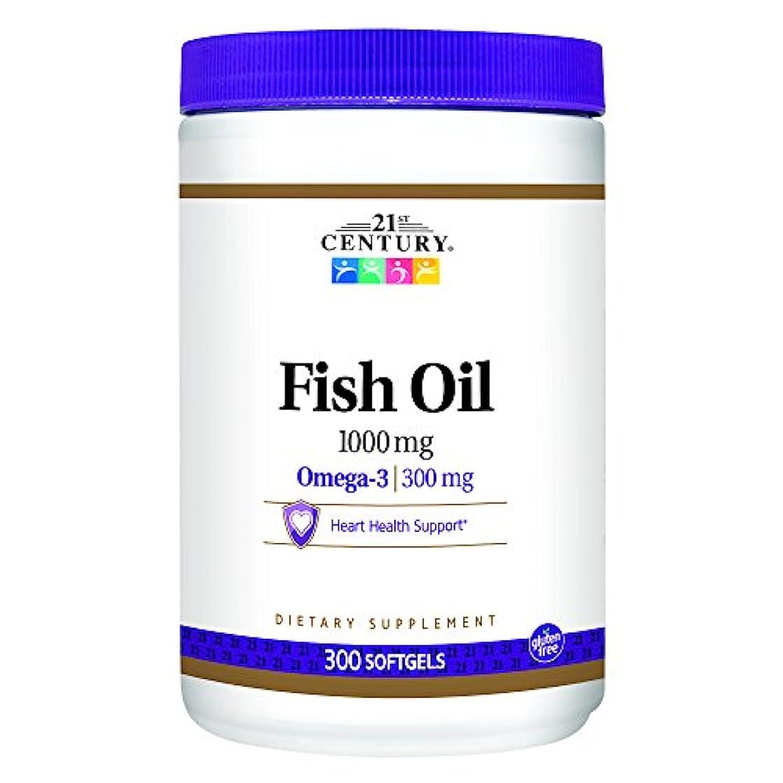 ベアリングかる悲しいことに21st Century Health Care, Fish Oil, Omega-3, 1000 mg, 300 Softgels