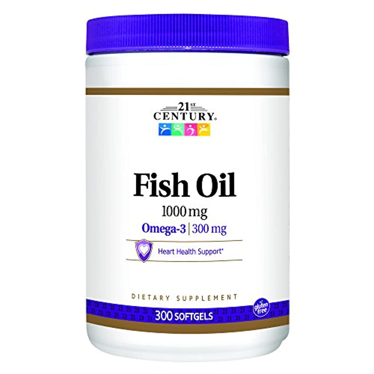 殺人ラッチずっと21st Century Health Care, Fish Oil, Omega-3, 1000 mg, 300 Softgels