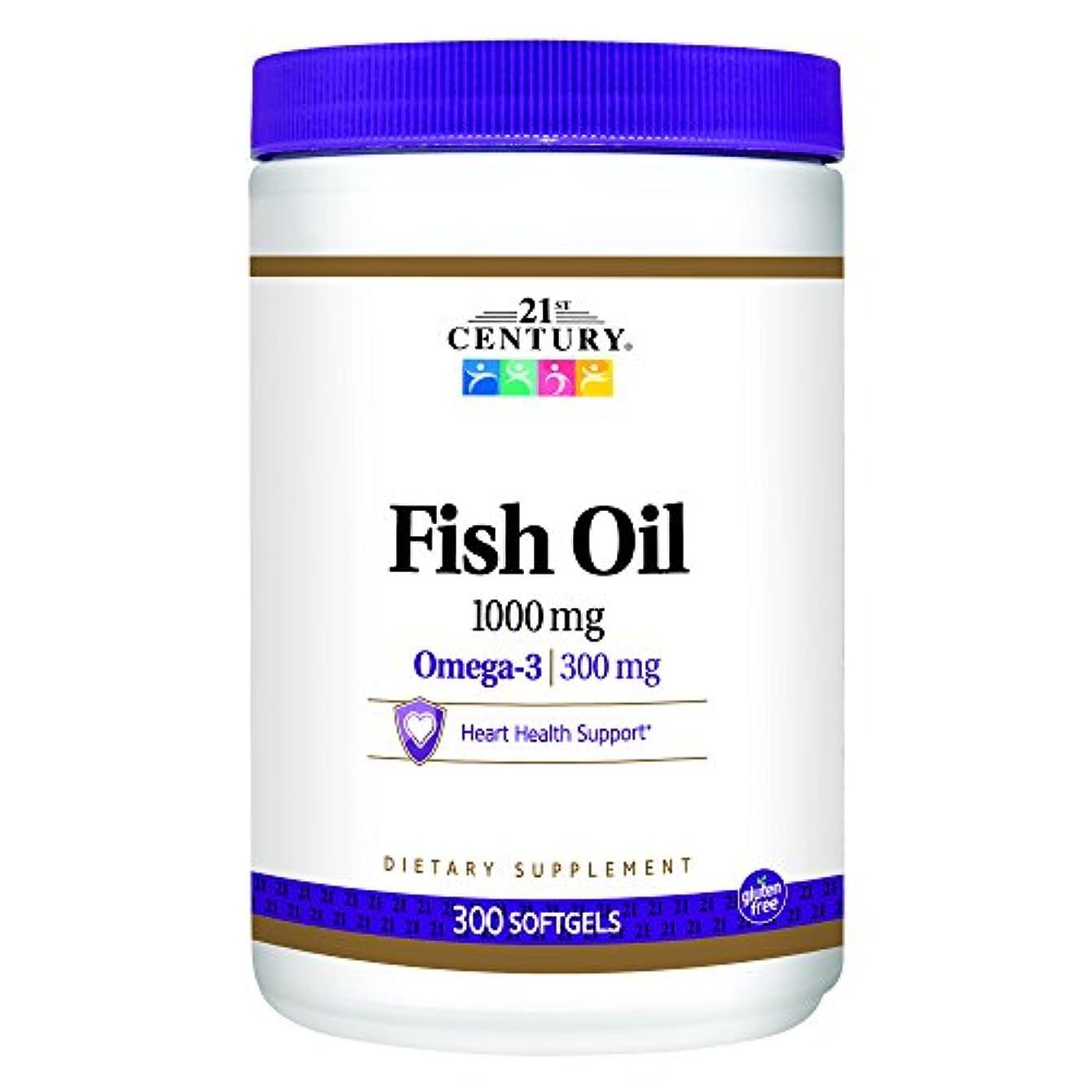 ある希少性本当に21st Century Health Care, Fish Oil, Omega-3, 1000 mg, 300 Softgels