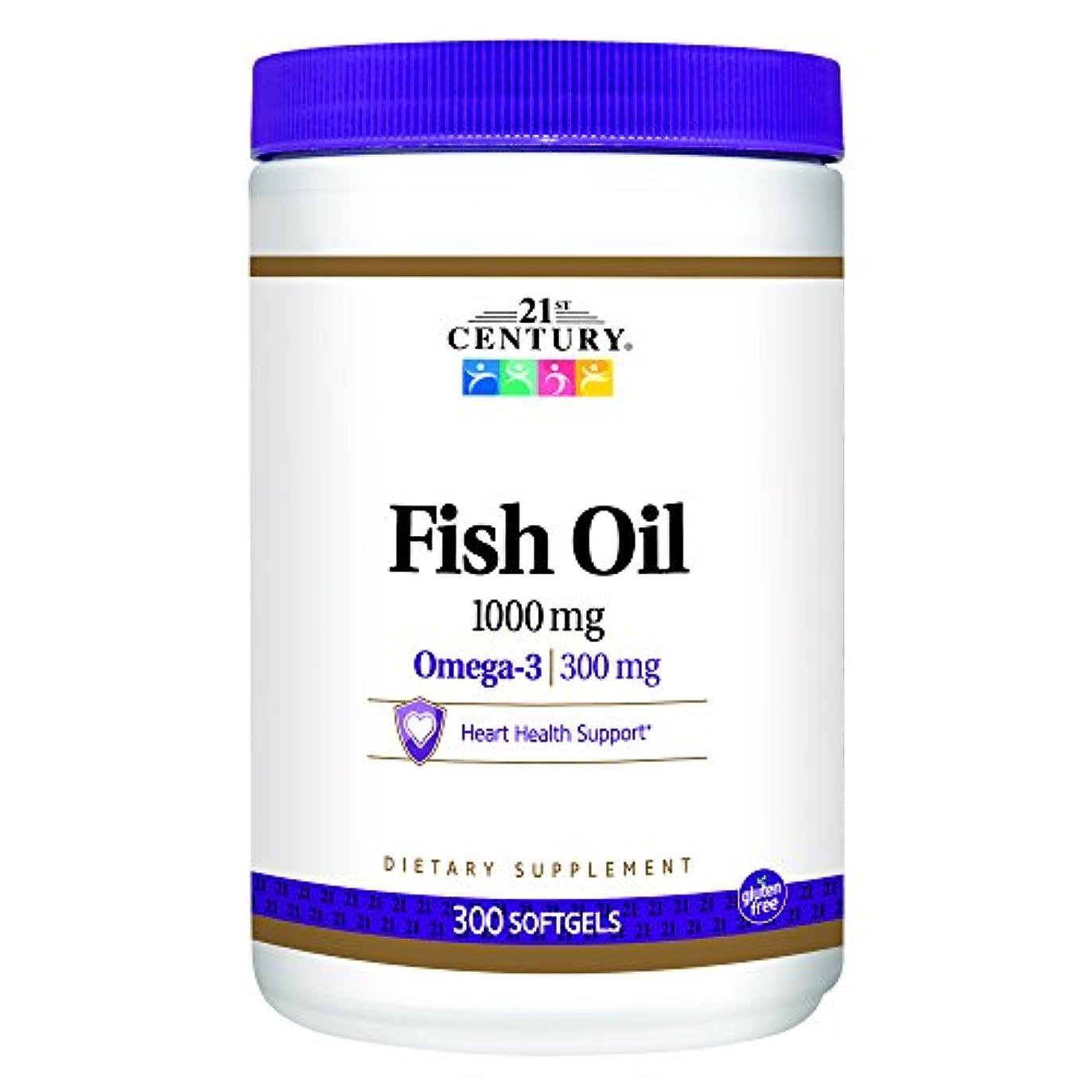 メッセージ議題気まぐれな21st Century Health Care, Fish Oil, Omega-3, 1000 mg, 300 Softgels