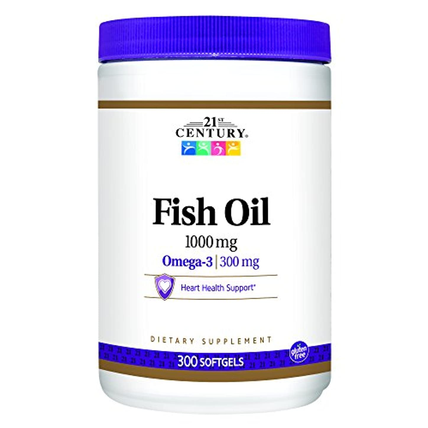 レーダー北へ鋭く21st Century Health Care, Fish Oil, Omega-3, 1000 mg, 300 Softgels