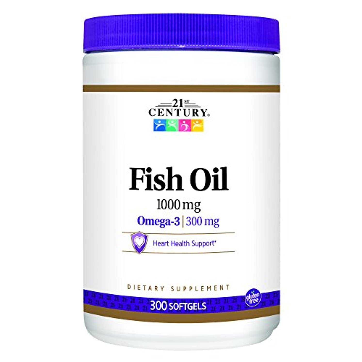 迫害信仰聡明21st Century Health Care, Fish Oil, Omega-3, 1000 mg, 300 Softgels