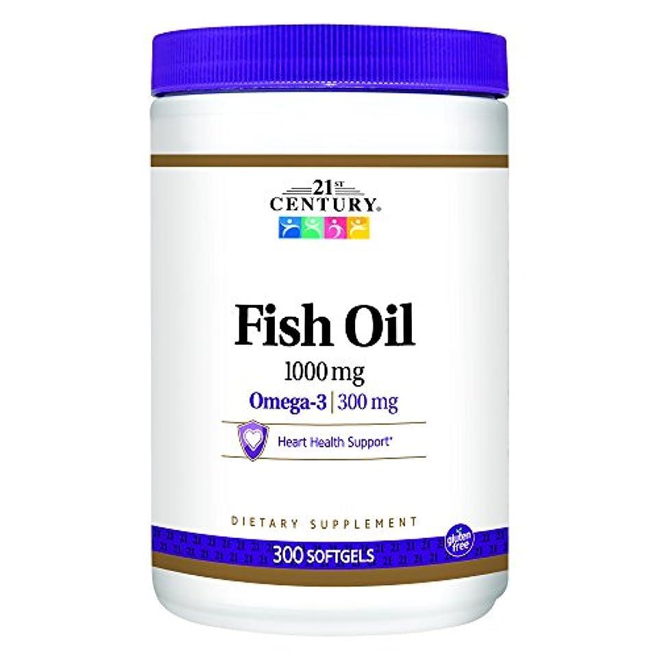 アウター急速な規則性21st Century Health Care, Fish Oil, Omega-3, 1000 mg, 300 Softgels
