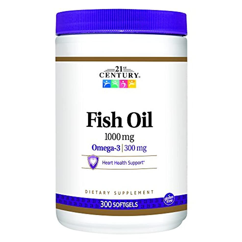 戦艦こんにちは捨てる21st Century Health Care, Fish Oil, Omega-3, 1000 mg, 300 Softgels
