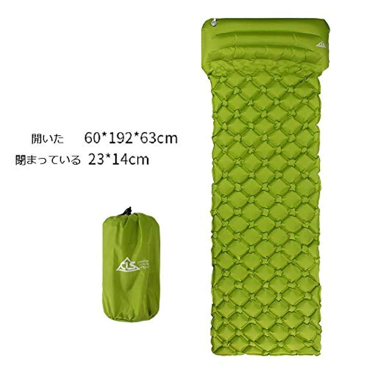 良心的スポーツの試合を担当している人完全にキャンプ用スリーピングパッドキャンプ用マット最も快適なスリーピングマットと枕 - ロールアップタイト - エアサポートセルはあなたのキャンプ用マットレスとキャンプ用枕を変形させます