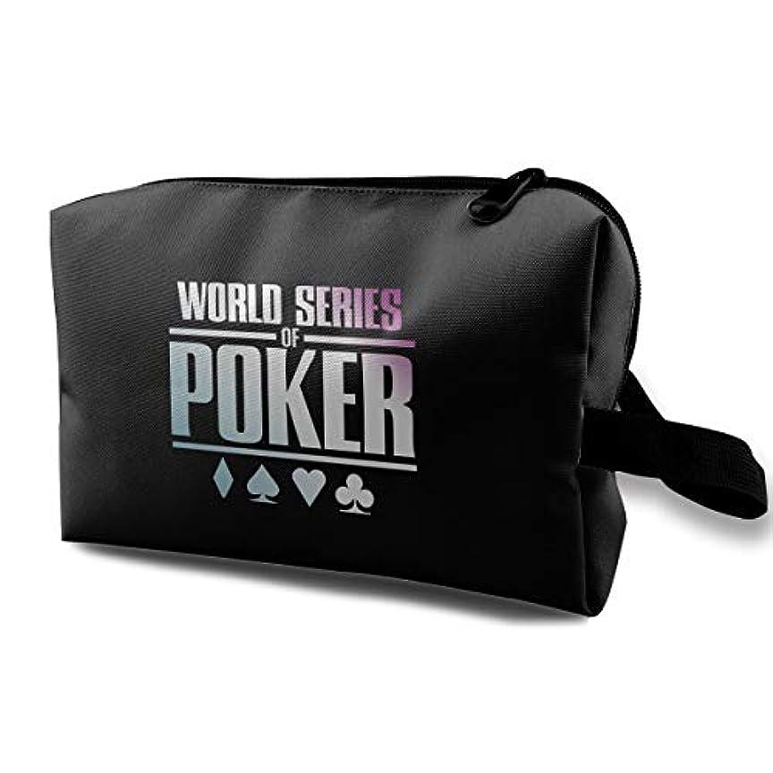 征服する宣言謝罪World Series Of Poker ゲーム 化粧ポーチ メイクポーチ コスメケース 洗面用具入れ 小物入れ 大容量 化粧品収納 コスメ 出張 海外 旅行バッグ 普段使い 軽量 防水 持ち運び