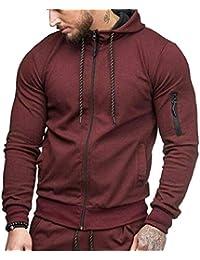 Keaac メンズファッションフルジップフーディーロングスリーブアクティブスポーツスウェットシャツジャケット