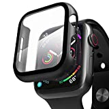 ZXK CO Compatible Apple Watch Case 42mm Series 3/2/1 with Screen Protector, Overall Full Protective Hard PC Bumper Case Ultra-Thin HD Glass Screen Protector for iWatch 42mm