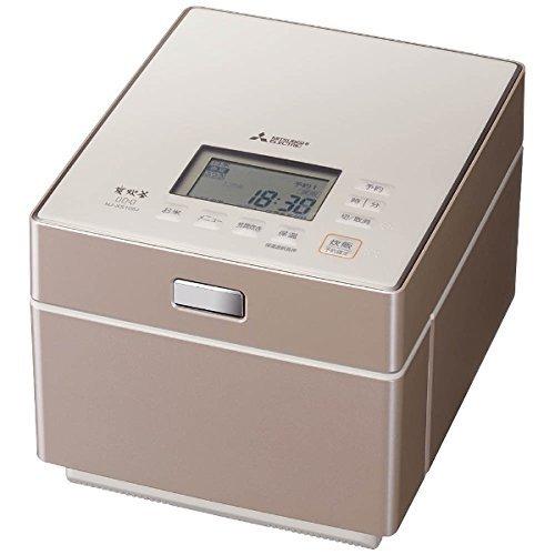 三菱 IHジャー炊飯器(5.5合炊き) テンダーロゼMITSUBISHI 蒸気レスIH NJ-XS108J-P