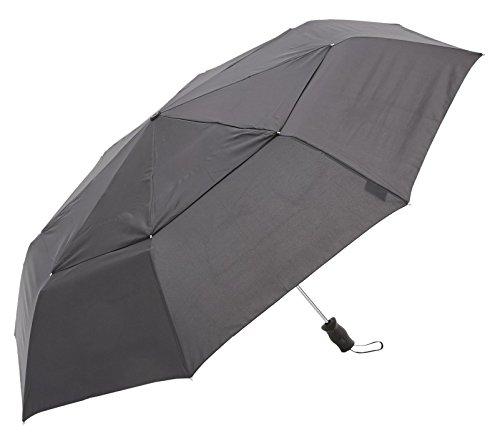 トーツ (totes)自動開閉 折り畳み傘 Vented Canopy 三つ折り69cm BLK(ブラック)