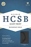 Holy Bible: Holman Christian Standard, Charcoal, LeatherTouch, Giant Print Reference