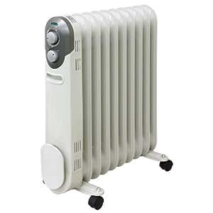 山善(YAMAZEN) オイルヒーター(1200/700/500W 3段階切替式)(温度調節機能付) ホワイト DO-L122(W)