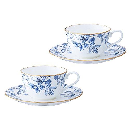 Noritake(ノリタケ) ボーンチャイナ ブルーソレンティーノ ティー・コーヒー碗皿 ペアセット P59387A/4562