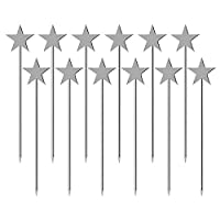 キラキラ星ピック ステンレス フルーツピック可愛い 料理の飾り10cm 12本セット