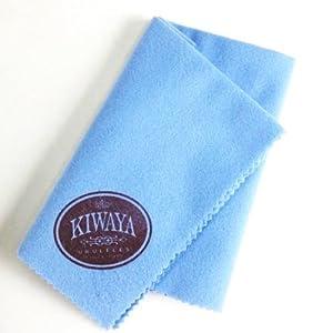 【KIWAYA】 ウクレレクロス ブルー ( キワヤ ふき取り 掃除 メンテナンス ウクレレアクセサリ 便利 )