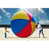 COM-SHOT 【 超 巨 大 】 BIG ビーチ ボール 【 直径 2.0 m 】 海 プール バレー マリン スポーツ アウトドア MI-BALL02-20