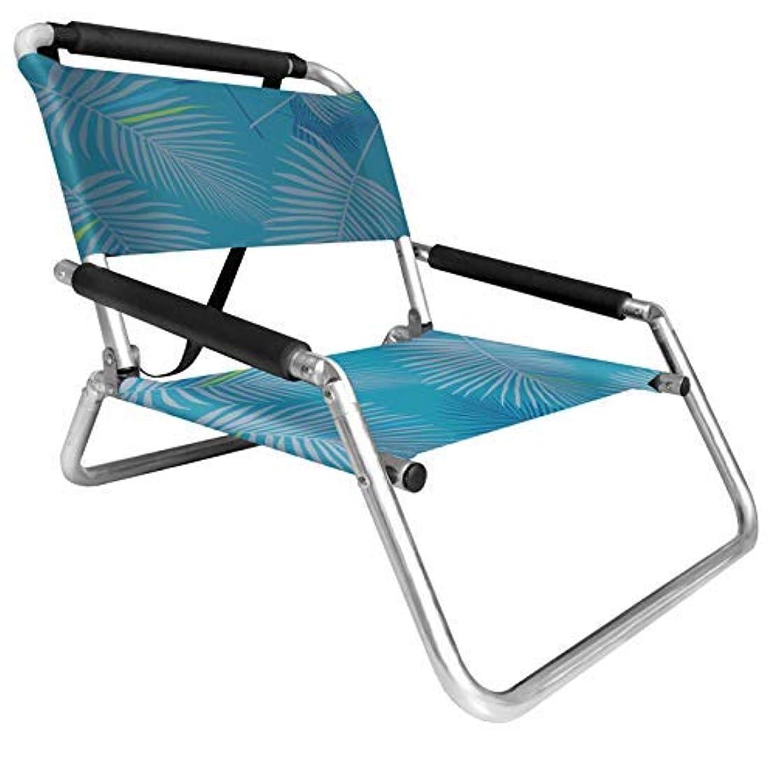時間とともに一般的に通り2 Pack of Neso Lightweight Water Resistant Beach Chairs with Shoulder Strap and Slip Pocket - Folds Thin (Aqua Fronds) [並行輸入品]
