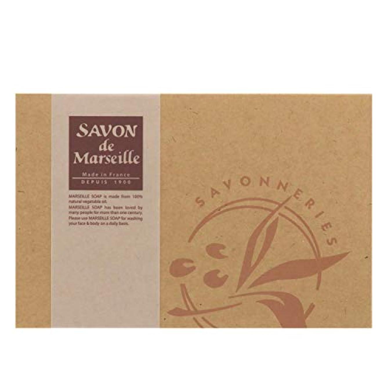 褐色廃止する予報サボンドマルセイユ無香料ギフトセット6個入り