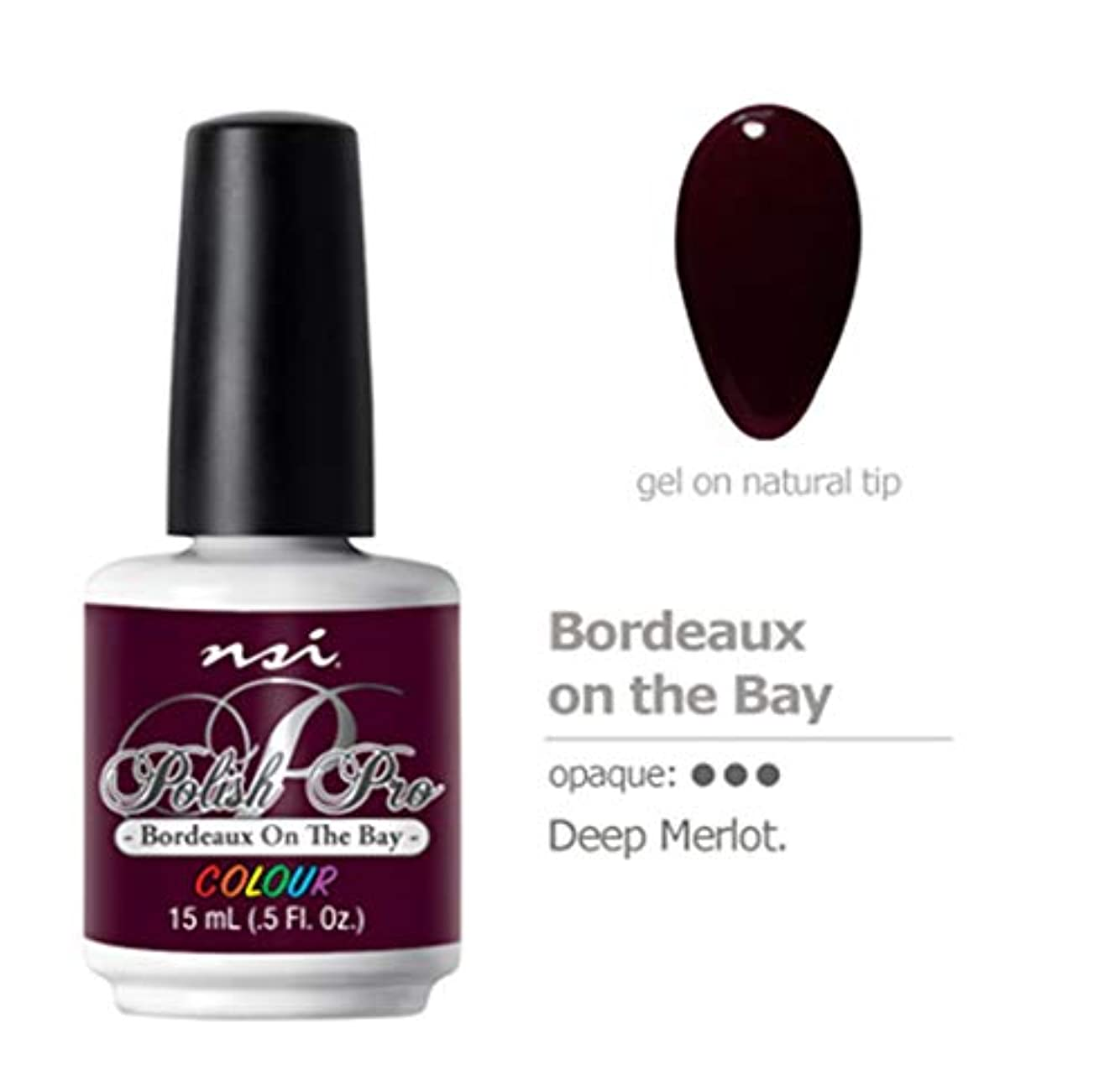 そして露株式会社NSI Polish Pro Gel Polish - Bordeaux on the Bay - 0.5oz / 15ml