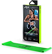PTP MicroBand Resistance Loop Band with Door Anchor and Exercise Poster, Green, Medium