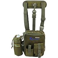 k-outdoor 大容量 釣りバッグ タックルバッグ ウェストバッグ/ショルダーバッグ 肩掛け 斜めかけ 多機能 ボトルケージ付き ロッドホルダー