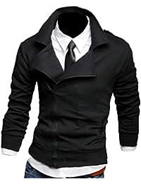 maweisong メンズロングスリーブコートジャケットジッパースウェットシャツアウト
