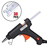 SEISSO Mini Hot Glue Gun with 30pcs Glue Sticks, Upgraded Hot Melt Glue Gun Kit, High Temp for Home Quick Repairs, DIY Small Craft, Projects, 20W