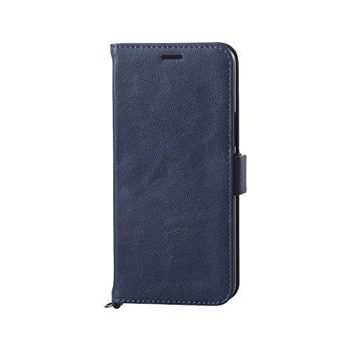 エレコム Galaxy S9 ケース SC-02K / SCV38 手帳型 ソフトレザーマグネットフラップ 耐衝撃TPU素材採用  ネイビー PM-GS9PLFYNV