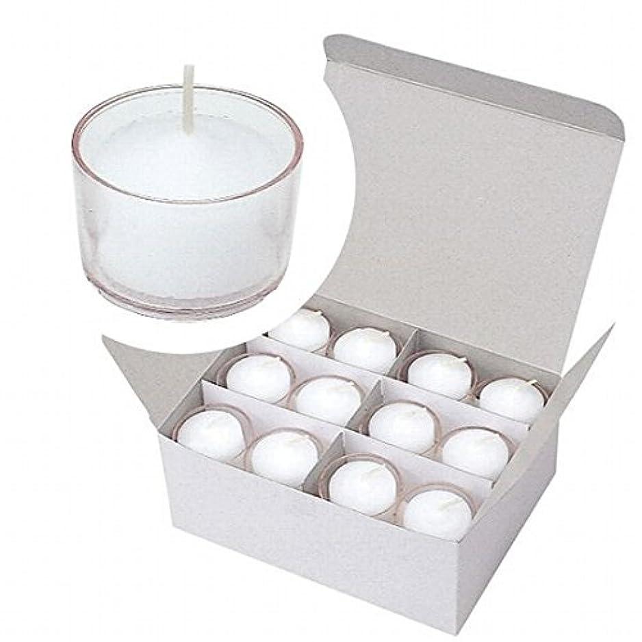 接触勢い交換可能カメヤマキャンドル(kameyama candle) クリアカップボーティブ4時間タイプ 24個入り 「 クリア 」