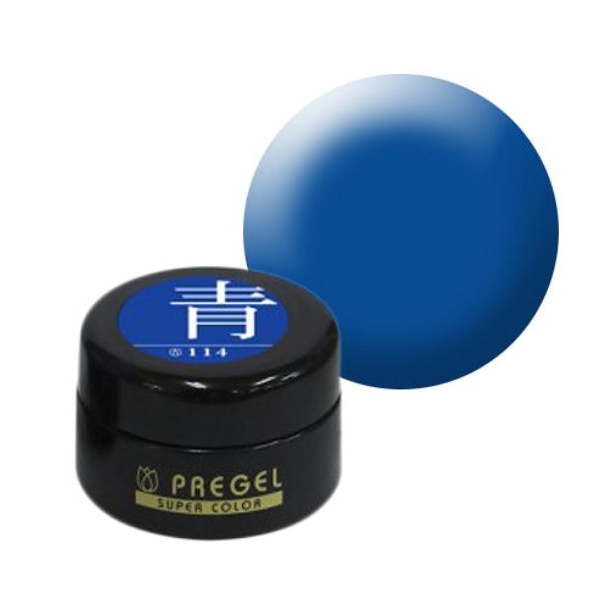 コンクリート退屈ヘルメット【PREGEL】カラーEx 青 / PG-CE114 【UV&LED】プリジェル カラージェル ジェルネイル用品