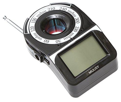 【MUUSY】 高性能 盗聴発見器 盗聴 盗撮 検知器 (電波探知 赤外線レーザー 探知機) 日本語説明書 & 1年保証付き
