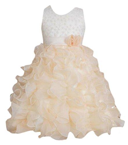 XQS DRESS ガールズ ベビー・ガールズ カラー: ベージュ