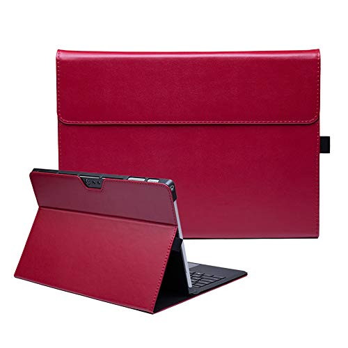 AICOO Microsoft Surface Pro 6 / Pro 5 / Pro 4 Case, Multiple-Angle Stand Case PU Leather Cover Compatible with Microsoft Surface Pro 6 (6th Gen) / Pro 5 (5th Gen) / Pro 4 (4th Gen) Tablet, XYW Red