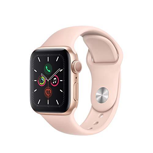 Apple Watch Series 5(GPSモデル)- 40mmゴールドアルミニウムケースとピンクサンドスポーツバンド - S/M & M/L