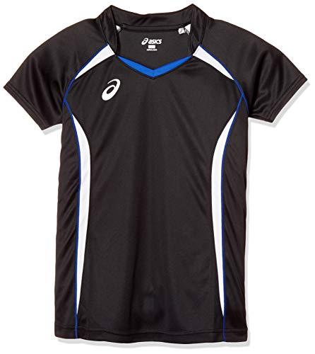 [アシックス] バレーボールウエア 半袖ゲームシャツ XW1316 [メンズ] ブラック/ホワイト 日本 L (日本サイズL相当)