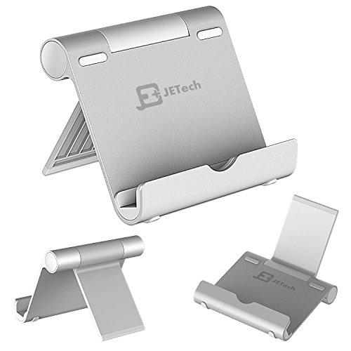 JEDirect タブレットスタンド 角度調整可能 iPad iPhone Samsung Galaxy Kindle Nexus等用 シルバー
