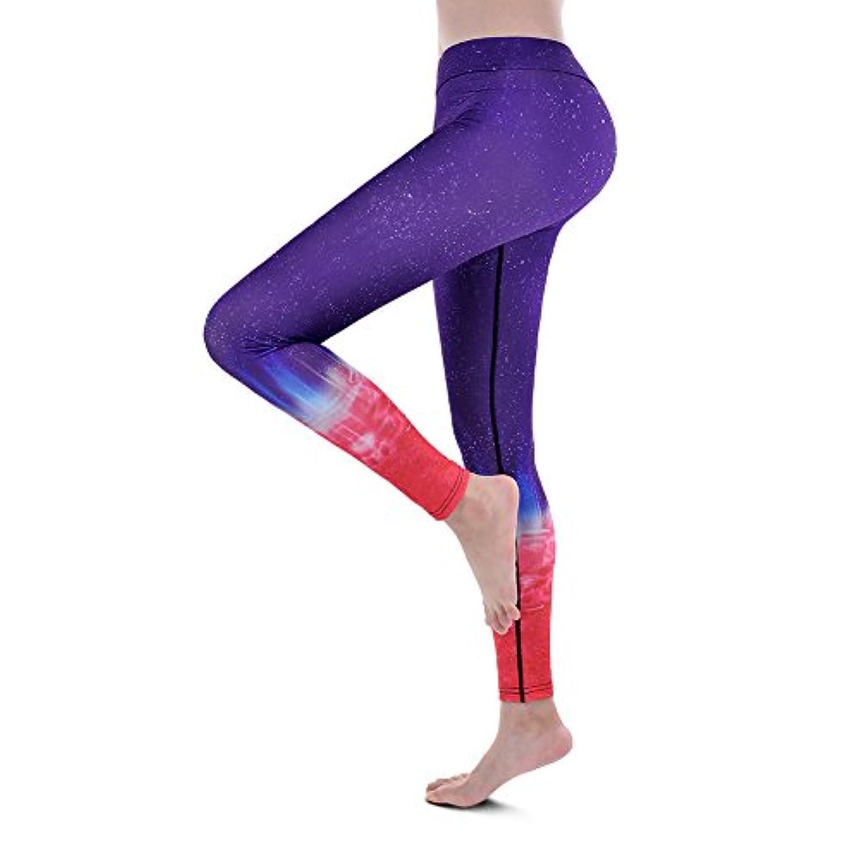 FITIBEST ヨガパンツ ヨガレギンス スポーツズボン 美脚パンツ ジム トレーニング 吸汗 伸縮 UVケア 9分丈 3カラー S-Lサイズ